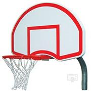 Gared Steel Backboard, Goal and Bent Post 3-1/2&quot;