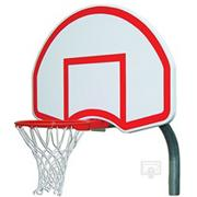 Gared� Steel Backboard, Goal and Bent Post 4-1/2""