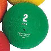 Rubber Medicine Ball, 4.4-lbs