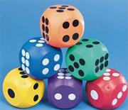 "Spectrum� 4"" Rubber Dice (set of 6)"