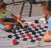 Jumbo Checkers &amp; Backgammon Game Rug