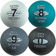 "8-1/2"" Spectrum� 5-in-1 Playground Balls, Numbers 0, 7, 8 & 9 (set of 4)"