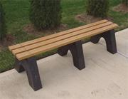 Backless Park Bench