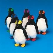 Spectrum Rubber Latex Mini King Penguin  (set of 6)