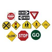 Traffic Sign Floor Markers  (set of 12)