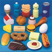 Foam, Grain, Protein, Dairy and Snack Food Set (set of 19)