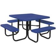 Picnic Table, Square 46&quot;, Coated Metal