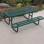 Picnic Table, 72&quot; Rectangular, Coated Metal 