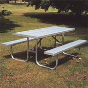 6&#039; Portable Aluminum Picnic Table