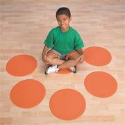 Spectrum� Jumbo Spot Markers, Orange (set of 6)