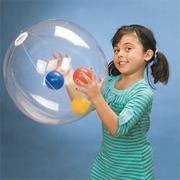 BeachBalzeez Clear Beach Ball, 24&quot;