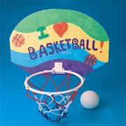 Color-Me Basketball Hoop Craft Kit Without Markers (pack of 12)
