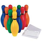 Spectrum� Rainbow Bowling Pin Set