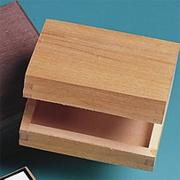 Unfinished Plain Small Hinged Box
