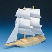 Unfinished Wood Tall Ship Kit