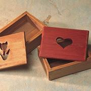Unfinished Designer Cut-Out Box - Tulip Shape