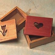 Unfinished Designer Cut-Out Box - Heart Shape