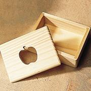 Unfinished Apple Cutout Designer Box