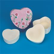 Unfinished Nested Heart Boxes (set of 3)