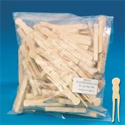 "Clothespins, Small Flat, 2-3/8""  (pack of 100)"