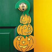 Halloween Pumpkin Doorknob Hangers Craft Kit (makes 24)