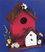 Unfinished Birdhouse with Porch