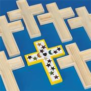 Unfinished Wooden Cross Tile Trivet (pack of 6)