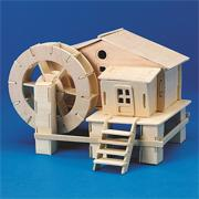 Unfinished Wooden Water Mill, Unassembled (pack of 12)