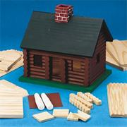 D-I-Y Wood Log Cabin, Unfinished, Unassembled