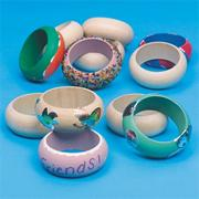 Small Wooden Bangle Bracelet (pack of 12)