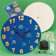 Unfinished D-I-Y Round Wood Clock Craft Kit