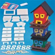 Unfinished D-I-Y 3 Tier Birdhouse Craft Kit