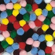 "Pom Poms 1/2"" - Assorted colors  (pack of 100)"