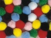 "Pom Poms 1"" - Assorted Colors  (pack of 100)"