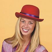 Red/Purple Dapper Hat